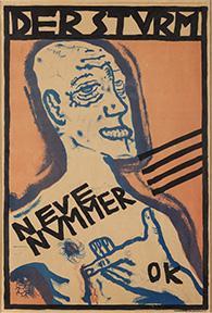 Oskar Kokoschka b. 1886 d. 1980 Poster with Self-Portrait for Der Sturm magazine 1910