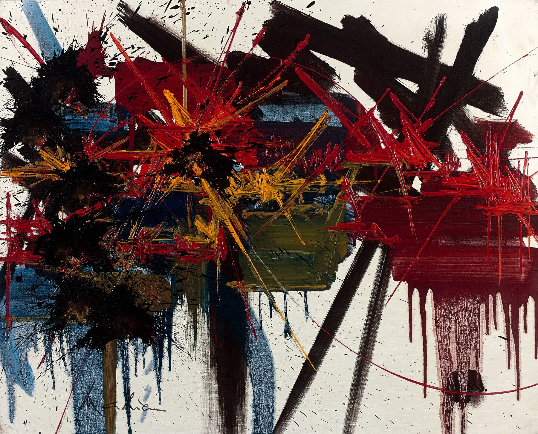 Georges MATHIEU (1921 - 2012)  SILENCE APAISE - 1988