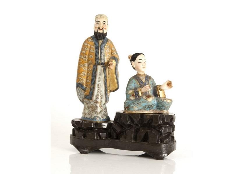 Pareja de figuras orientales (siglo XX)