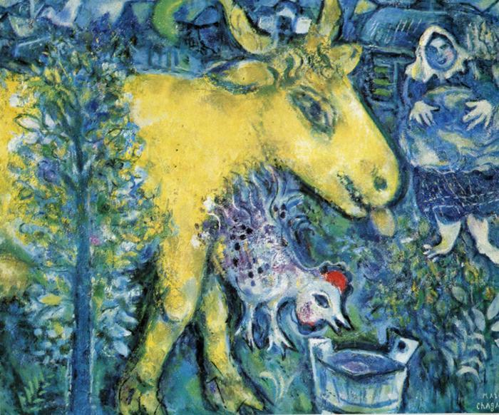 La ferme, Marc Chagall, 1954 (via Wikipaintings).