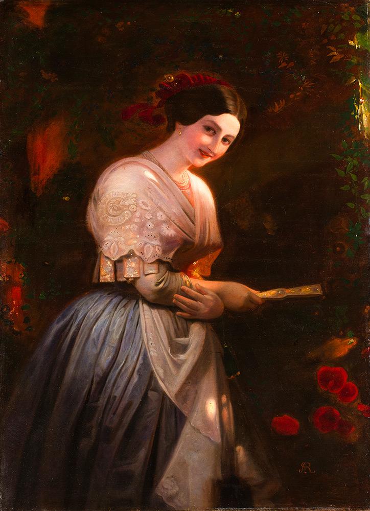 AUGUST RIEDEL (Bayreuth 1799 – Rom 1883) - Vittoria Caldoni in albanischer Tracht, Öl/Lwd., 127,5x102 cm Schätzpreis: 30.000-40.000 EUR