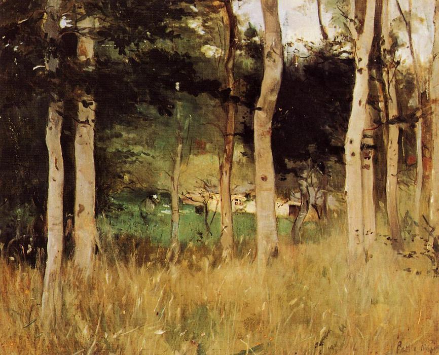 Berthe Morisot, « Chaumière en Normandie », 1865, image via Top Impressionists