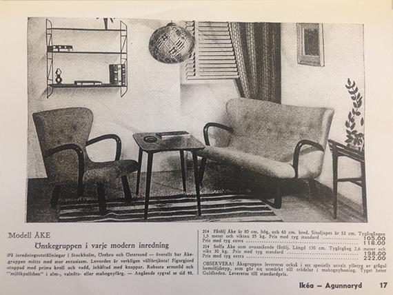 """Möbelmodellen Åke med """"mjölkpallsben"""" är en av årets auktionraketer! Priset då var 118 kronor inklusive tyg."""