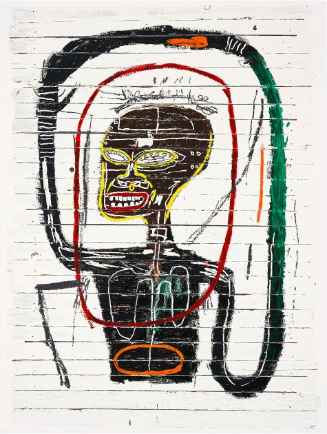 """Mit Werken wie """"Flexible"""", das für 45,3 Millionen USD einen neuen Besitzer fand, konnte sich Jean-Michel Basquiat den 4. Platz der Liste sichern   Foto: ©Phillips"""