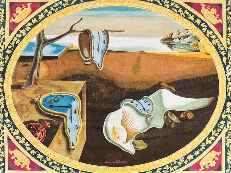 Salvador Dalí, The Persistence of Memory, Tapestry, 1970s. Utropspris 22 500 SEK, Auctionata