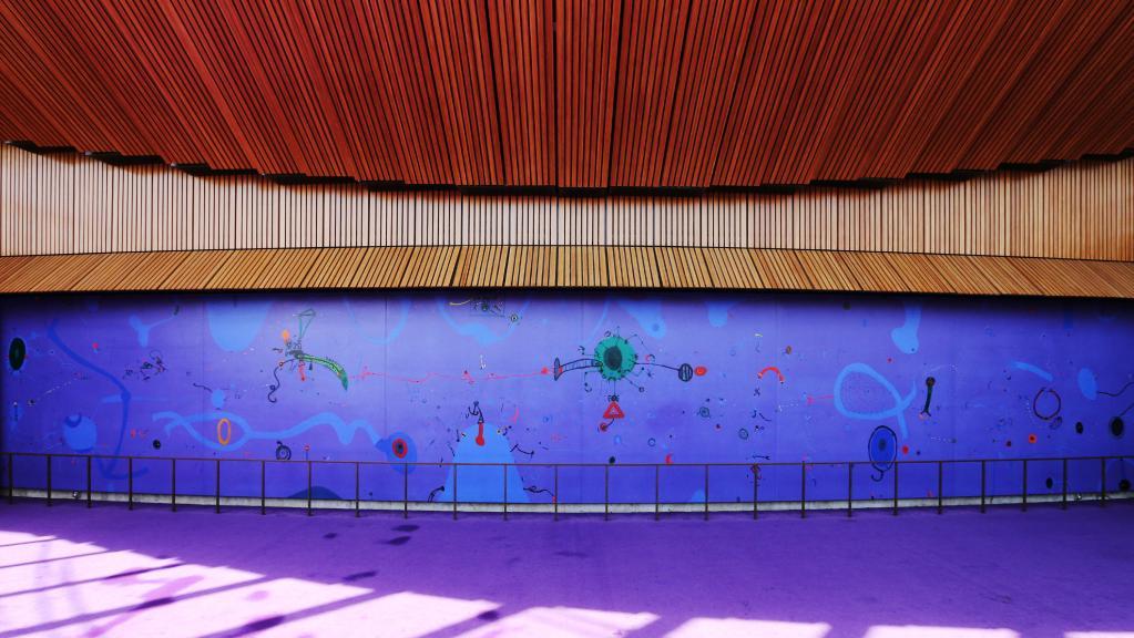 John Olsen's mural, Salute to Five Bells, at the Sydney Opera HouseImage: The Australian