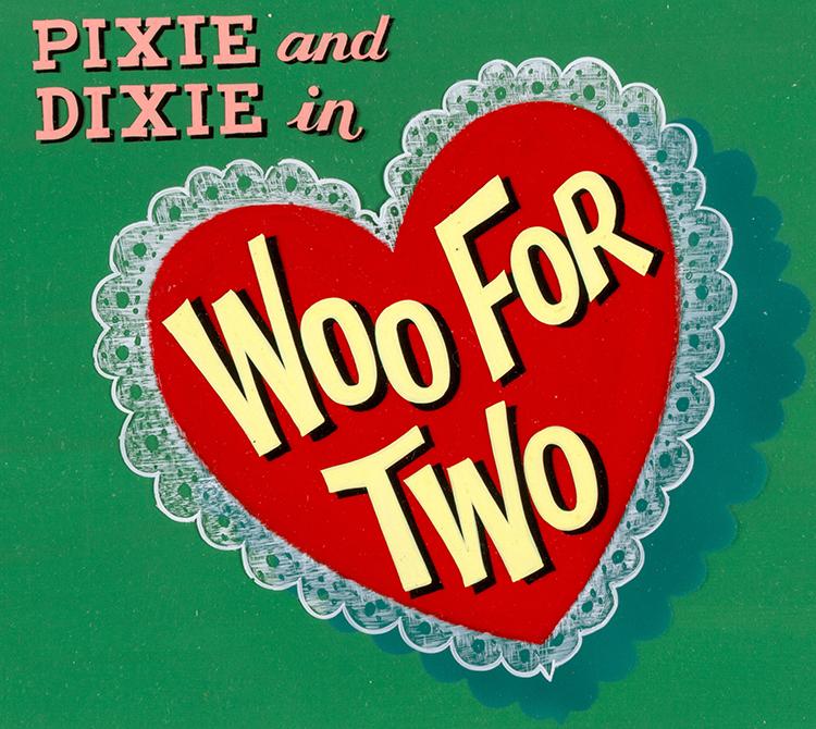 """Samlarobjekt, originalgrafik till serien """"Pixie och Dixie"""". Utrop: 8.700 SEK Heritage Auctions"""