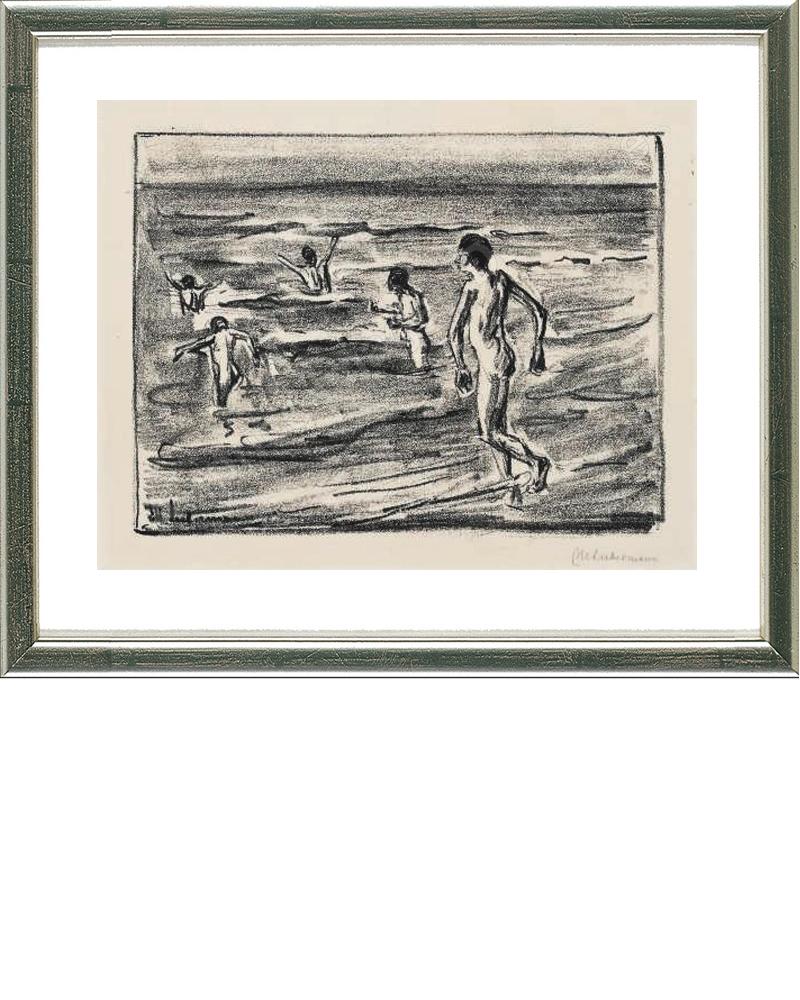 MAX LIEBERMANN - Badende Jungen, Original-Lithografie, 17 x 22 cm, 1909 Preis: 1.500 EUR ARTEVIVA FINE ART