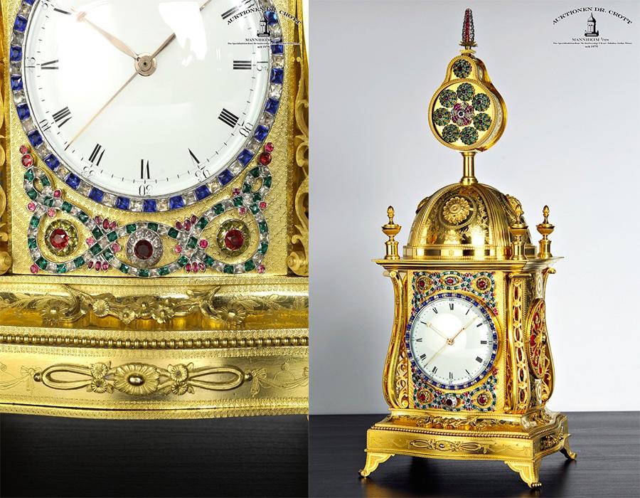 Uhr mit Musikautomat, John Mottram für den Kaiserhof von China, ca. 1790