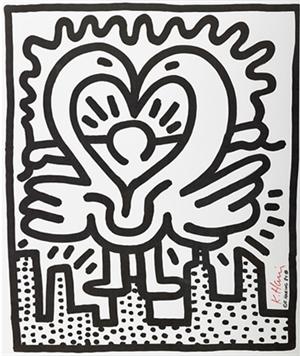 Keith Haring, Kutztown Connection, 1984, Offset Lithographie, ca. 56 x 47 cm, Schätzpreis: 1200 Euro – 2000 Euro