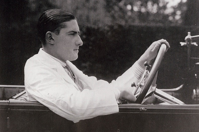 Portrait of Lionel Martin, co-founder of the company now known as Aston Martin