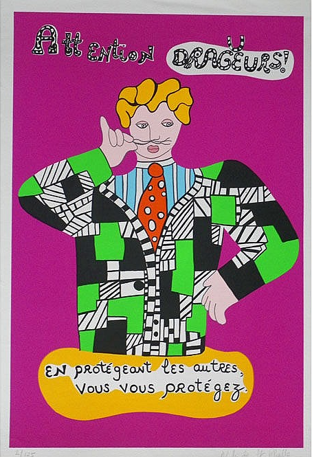 Niki de Saint Phalle Attention dragueurs  Expertisez.com