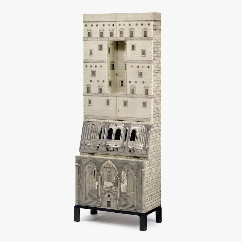 "Pierro Fornasetti. ""Trumeau Architettura"", sent 1950 tidigt 1960-tal. På auktion hos Freeman's"