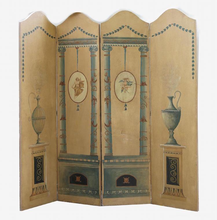 Viksskärm, Gustaviansk-stil, 1900-tal. Utrop: Ej känt Dalarnas Auktionsbyrå