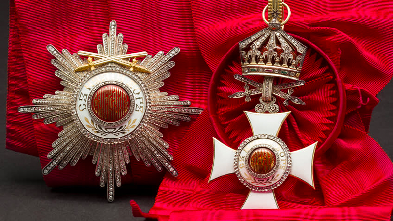 Wilhelm Freiherr von Leonrod - a Grand Cross set with Diamonds and Swords on Ring of the Bulgarian Order of St. Alexander.