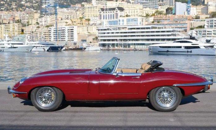 Jaguar Type E S II Roadster 4.2 1970 Image via Monte Carlo Sun Auctions