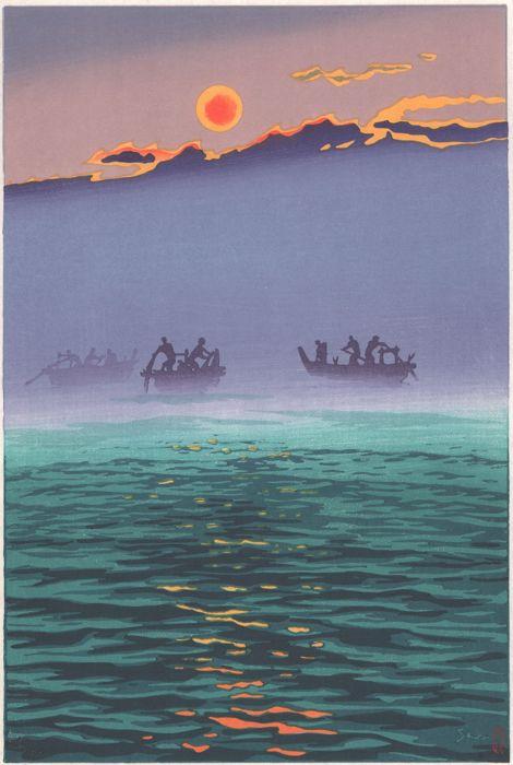 Morning Waves, Kasamatsu Shiro. 1956, paper. Sold: $317