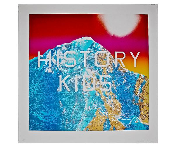 "Ed Ruscha (American, b. 1937), ""History Kids"", färglitografi, numrerad ""29/60"", signerad."