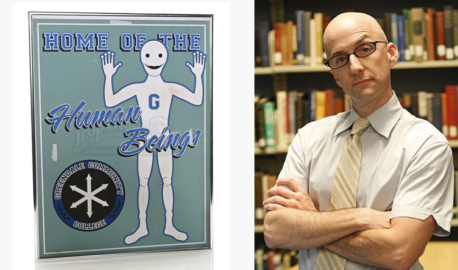 Craig Pelton's (Jim Rash) Human Beings Framed Print