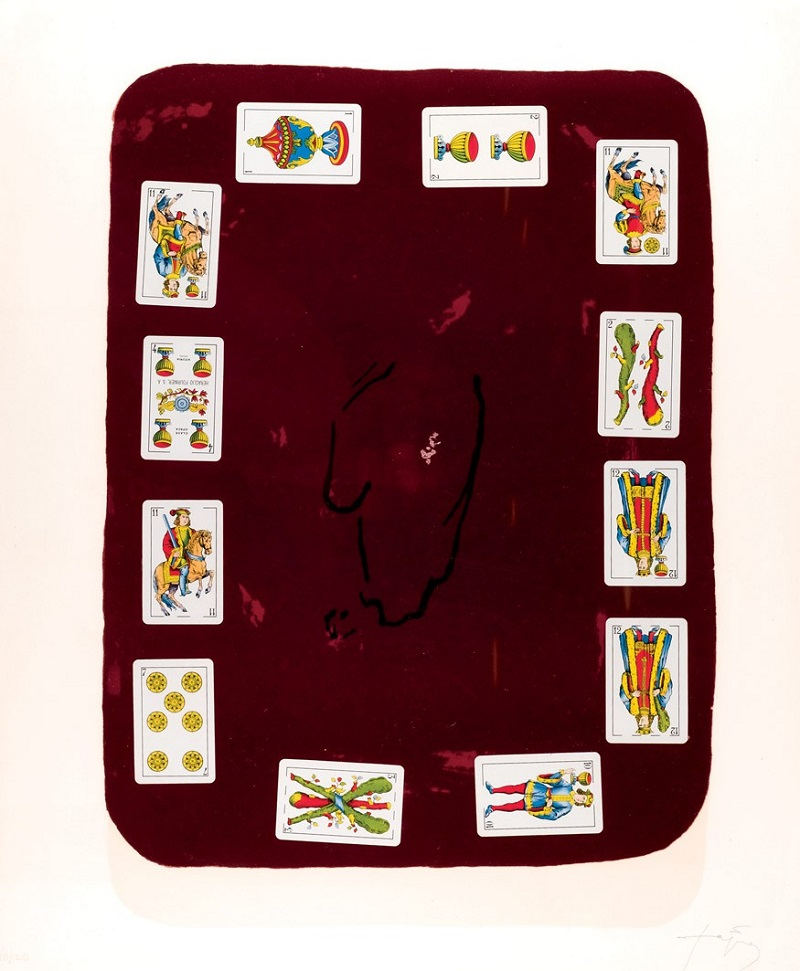"ANTONI TÀPIES. Litografía y collage sobre papel Velin Arches ""Cartes per a la Teresa"""
