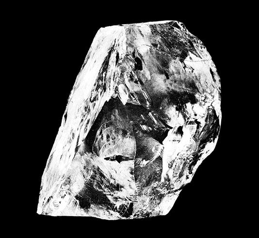 Le diamant Cullinan, non coupé