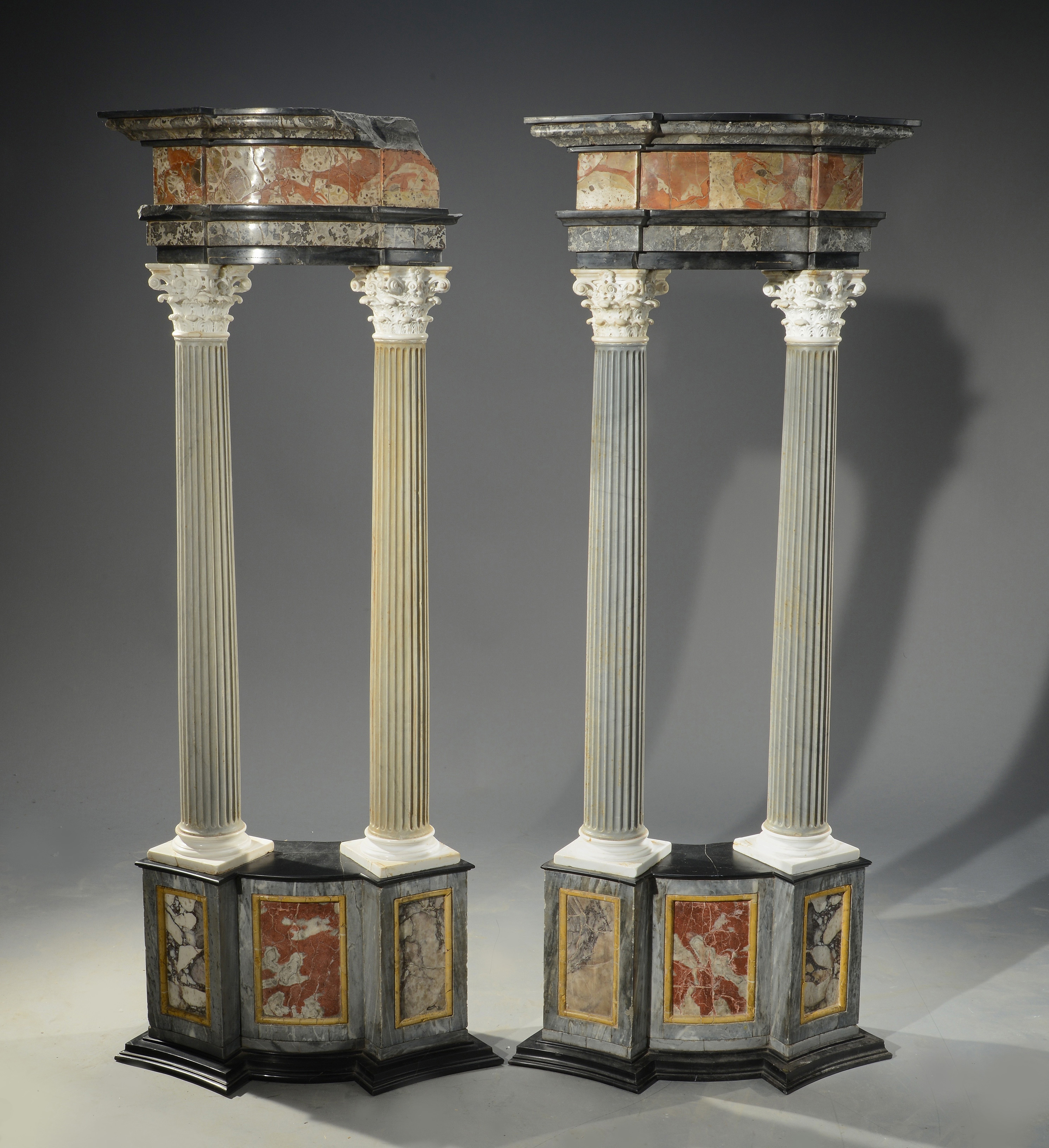 Pair of architectural columns, 19th century