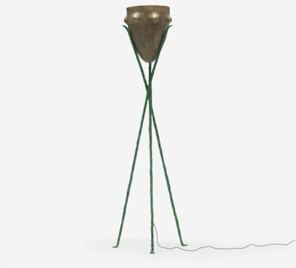 Elizabeth Garouste och Mattia Bonetti. Frankrike 1980. Lampa i stål och keramik. Fast pris: 88 800 Sek. Wright Now