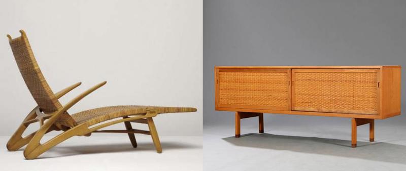 Links: Der Dolphin Chair von Hans J Wegner wurde 2009 für ca. 88.000 Euro bei Phillips verkauft. Rechts: Wegners Sideboard RY 26 wechselte 2015 für ca. 3.000 Euro seinen Besitzer Fotos: Philips und Bruun Rasmussen