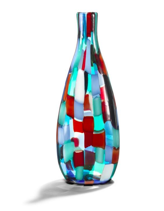 """FULVIO BIANCONI Vase """"Pezzato Arlecchino"""", VENINI, Murano 1950er Jahre"""