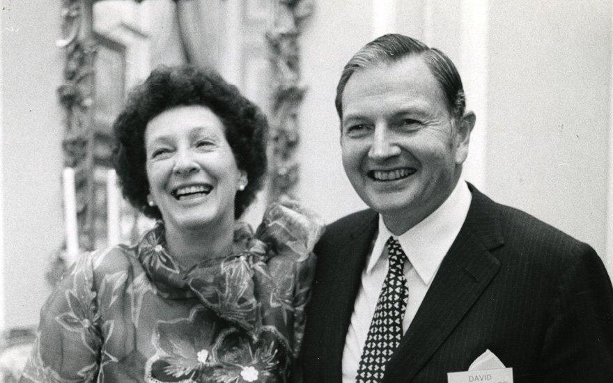 Peggy et David Rockefeller, Mai 1973 Courtesy of Christie's New York/Arthur Lavine/Rockefeller Estate