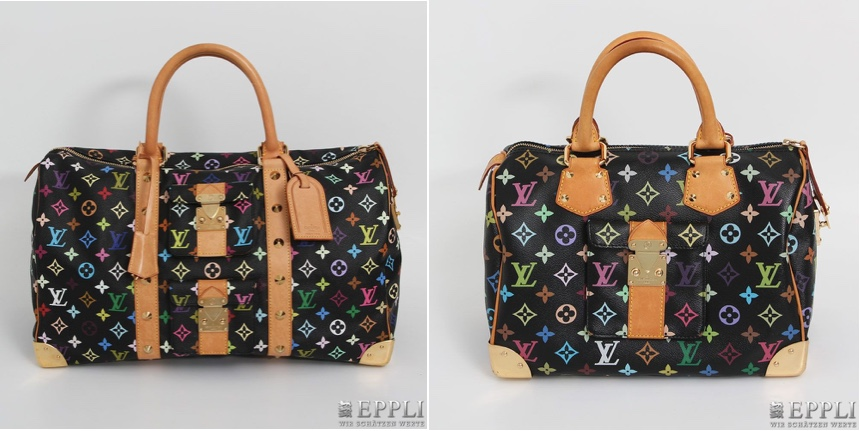 "Links: Weekender ""Keepall 45 Multicolor"", Monogram Multicolor Canvas Serie, Koll. 2003 Aufrufpreis: 960 EUR Rechts: Henkeltasche ""Speedy 30 Multicolor"", Monogram Multicolor Canvas Serie, Koll. 2010 Aufrufpreis: 600 EUR"