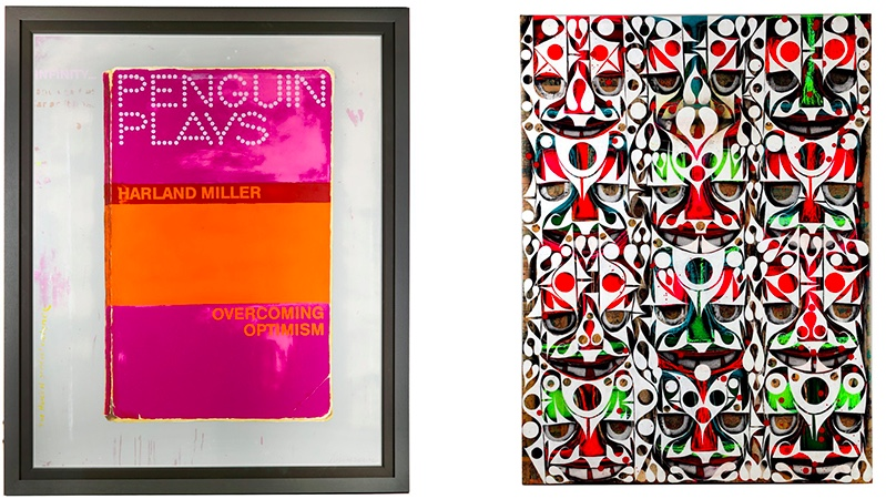 Links: HARLAND MILLER (*1964) - Overcoming Optimism, 2014 Rechts: PHIL FROST (*1973) - Smucker Fang, 2008