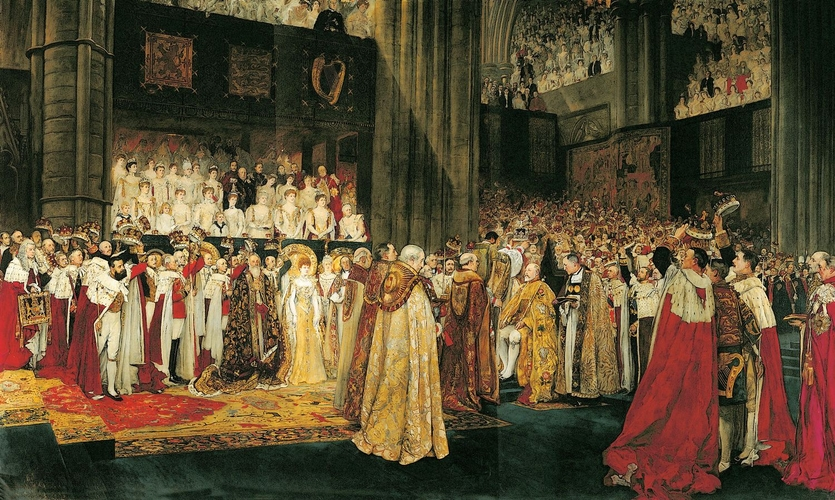 Edwin Austin Abbey, The Coronation of King Edward VII | Abb. via Royal Collection Trust