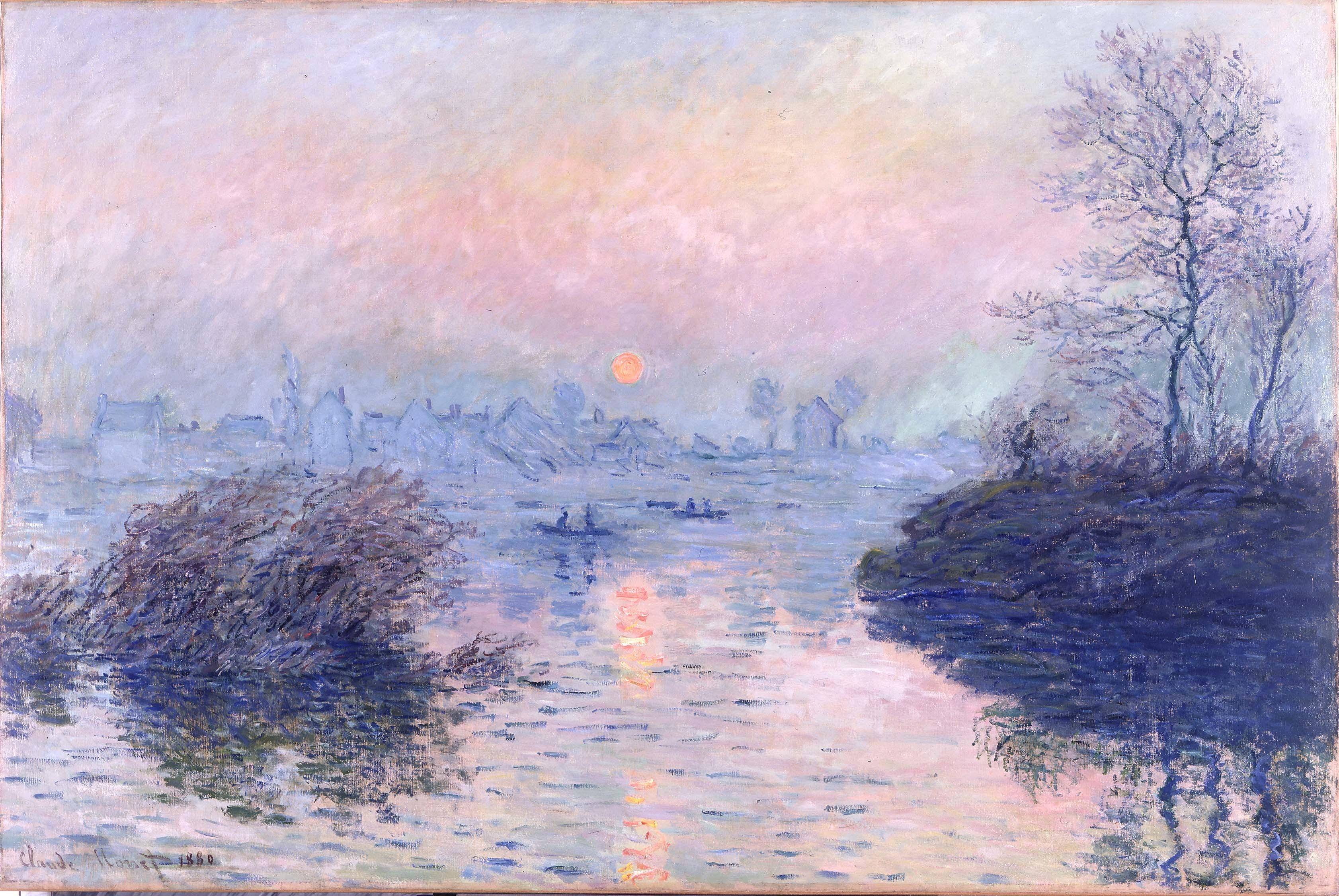 Claude Monet, 'Sunset on the Seine at Lavacourt', 1880, collection of Petit Palais