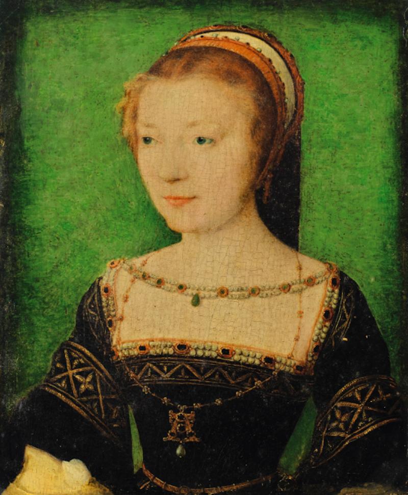 Porträtt av Madame Anne Pisseleu av Corneille de Lyon. Värdering: 200.000 - 300.000 €