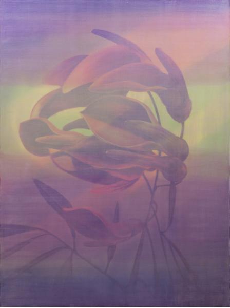 Edouard Wolton Pink Flamingo, 2016 Peinture 146 x 114 cm Galerie Les Filles du Calvaire