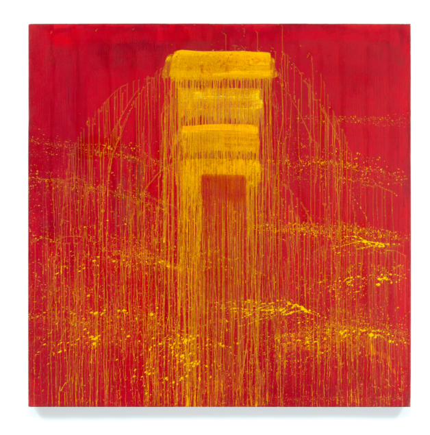 Pat Steir, Four Yellow/ Red Negative Waterfall, 1993