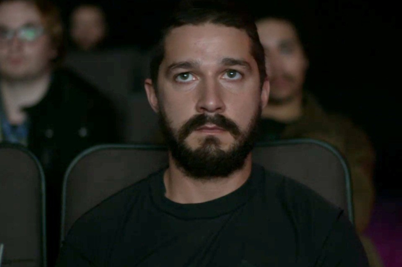 Shia LaBeouf under sittningen av sina filmer Foto: The Atlantic