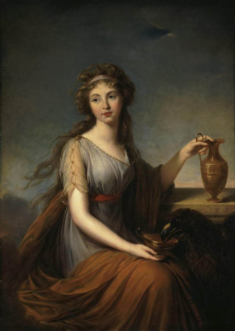 Élisabeth Vigée Le Brun, 'Baroness Anna Pitt as Hebe' 1792, oil on canvas