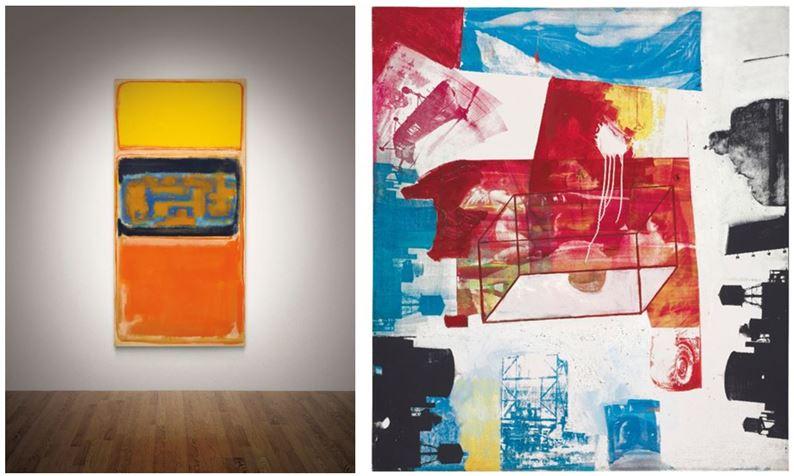 Fotografía de las obras a subasta en Christie's