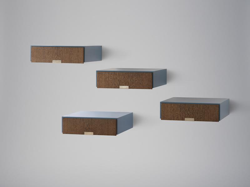 Tiroirs muraux d'Arne Jacobsen Dansk Møbelkunst