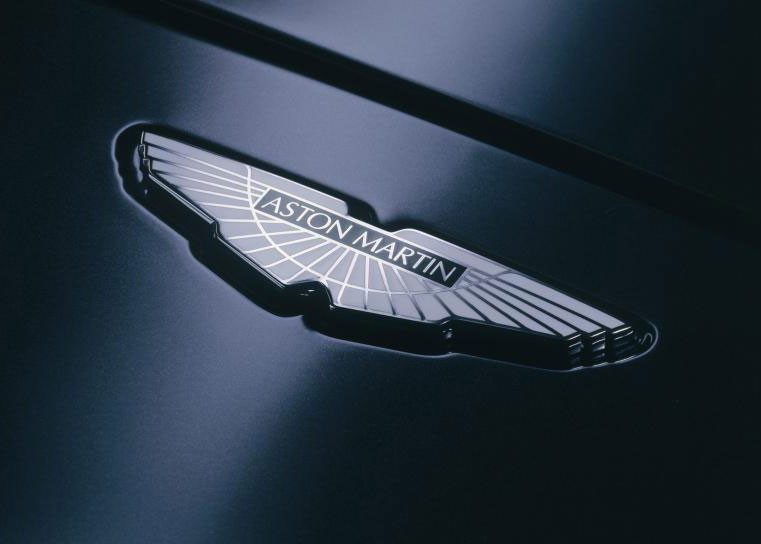 The Aston Martin winged logo, inspired by the Egyptian god Khepri and a symbol of rebirth