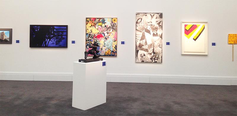 Vue de l'exposition publique chez Sotheby's à Londres Image courtesy of Barnebys