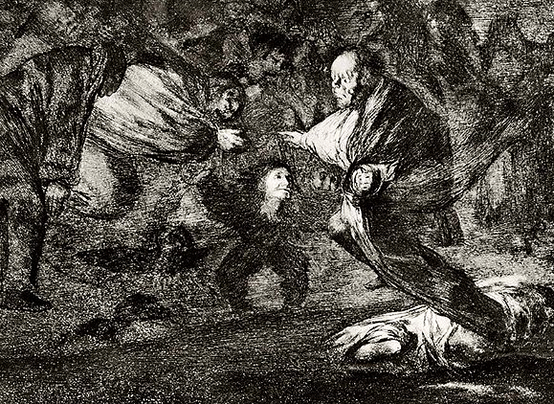 "Francisco de Goya, ""Disparate Funderal"", 1815-1823. Pris: 12 100 SEK. Till salu hos Privatelot.com"