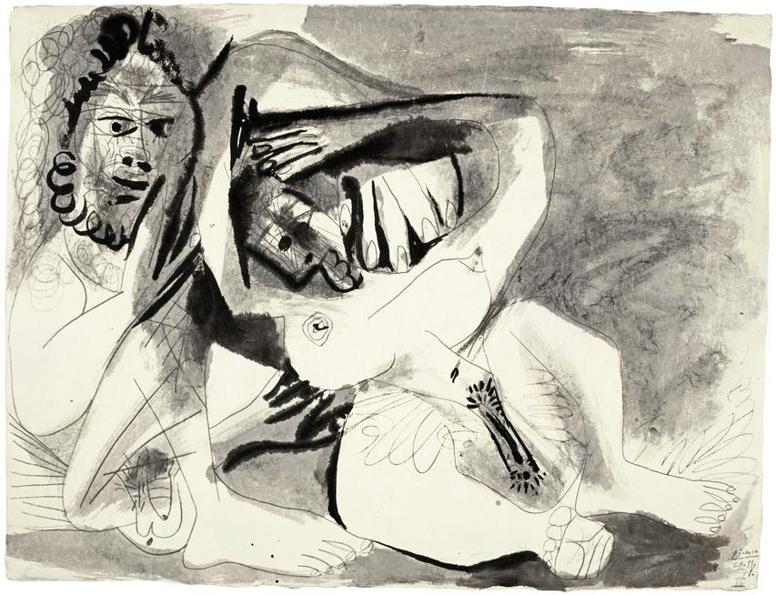 PABLO PICASSO - Homme et femme nus, signiert und datiert 29.11.71|Abb: Sotheby's