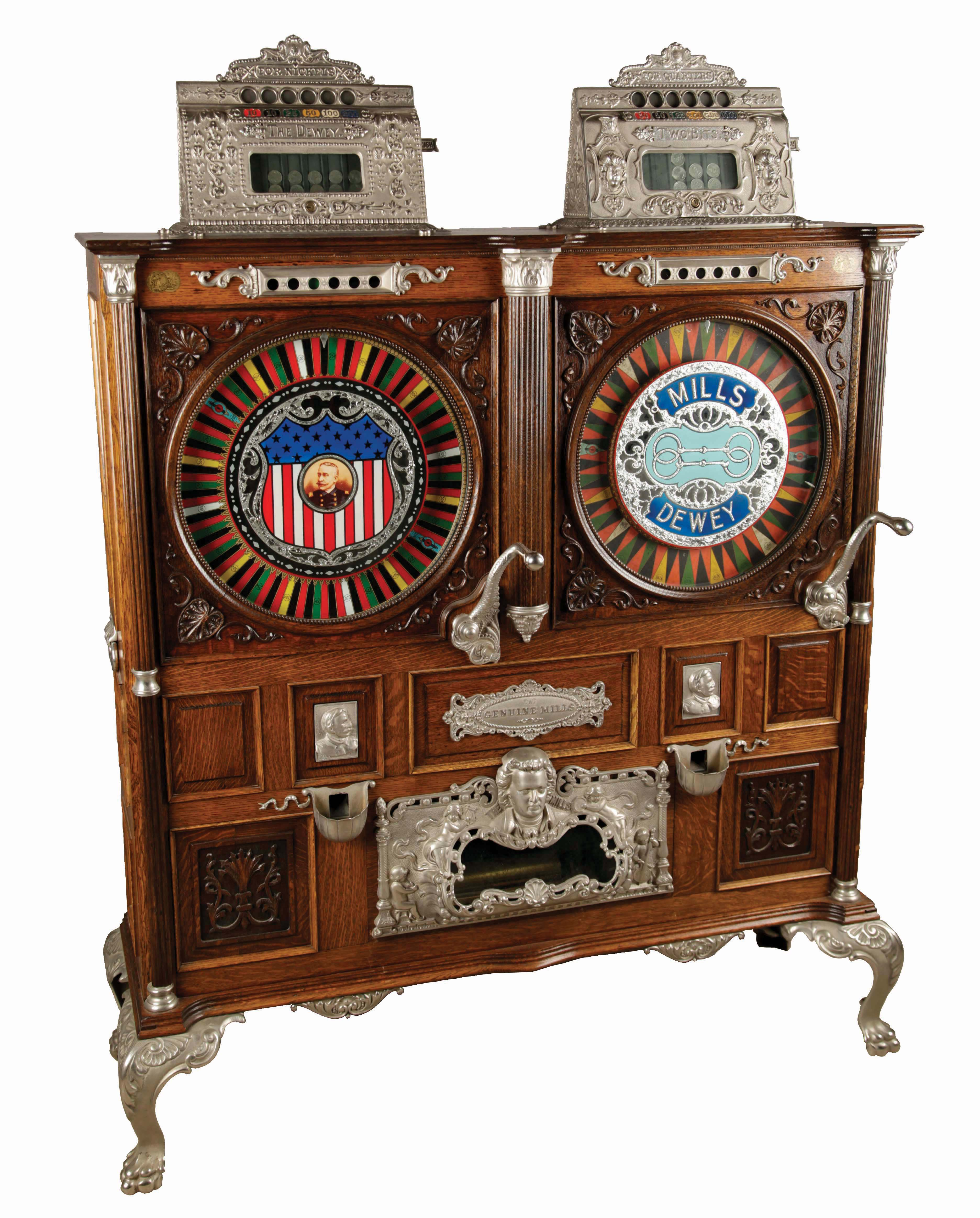 5¢, 25¢ Mills Novelty Co. Double Dewey Musical Upright Slot Machine