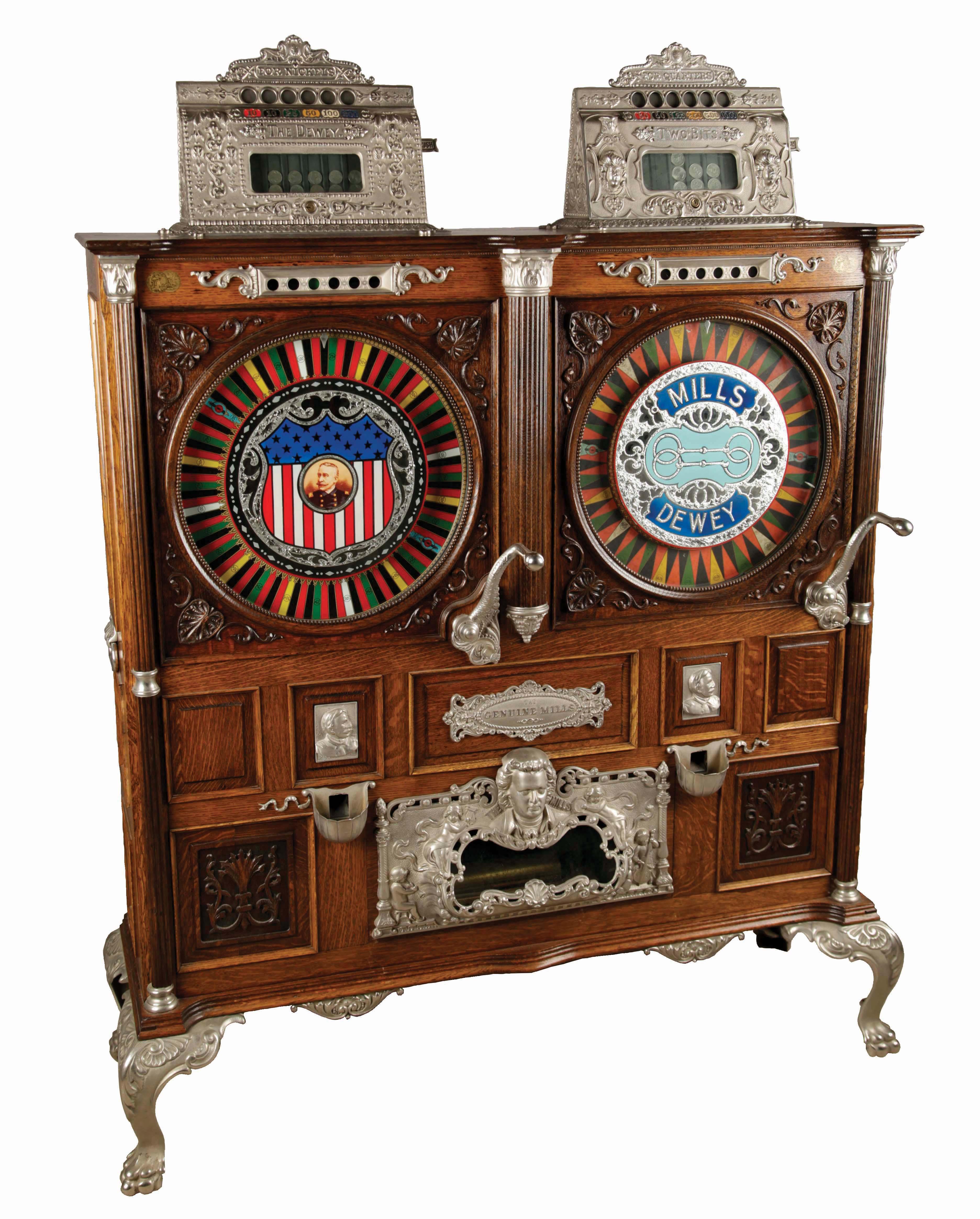 Myntdriven spelautomat tillverkad av Mills Novelty Company. Foto: Morphy Auctions.