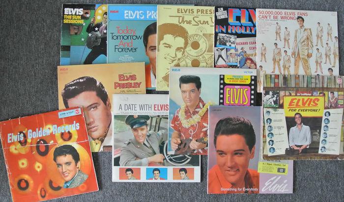 Collection de 11 albums d'Elvis Presley, 1958-1982