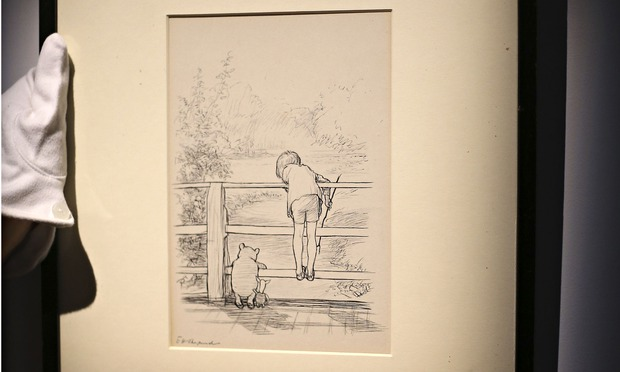 Pooh drawing sale