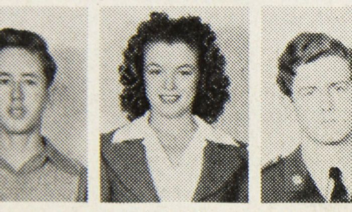 MARILYN MONROE. University High School Yearbook. Fotografía de Norma Jean Baker (1942)